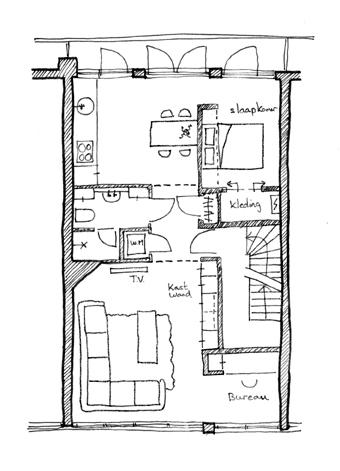 Bouwaanvraag met architect verbouwen for Interieur tekenen